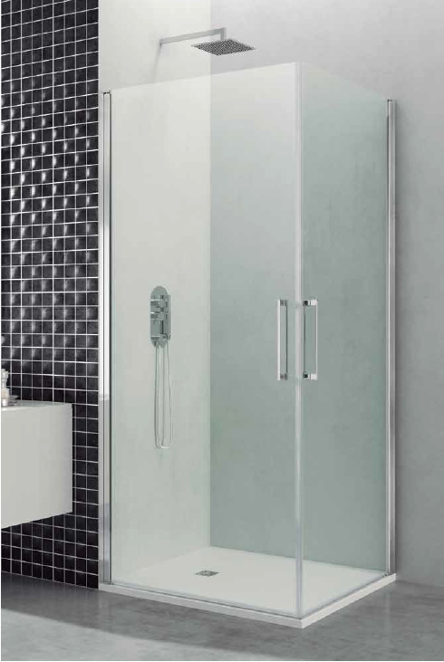 Mampara 2 puertas abatibles 180 mamparas de ba era y ducha - Mamparas de ducha puertas abatibles ...