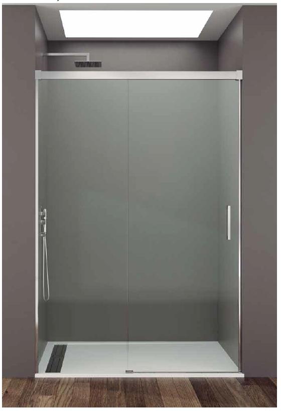 Sin perfil inferior fijo corredera basic con tratamiento - Mamparas de ducha sin perfiles ...