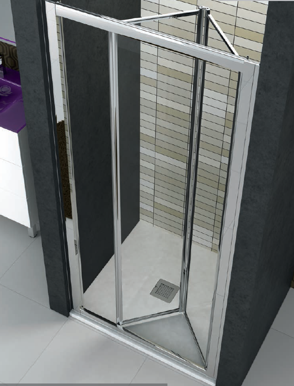 Mampara plegable cristal transparente o serigraf a modelo - Mampara plegable ducha ...