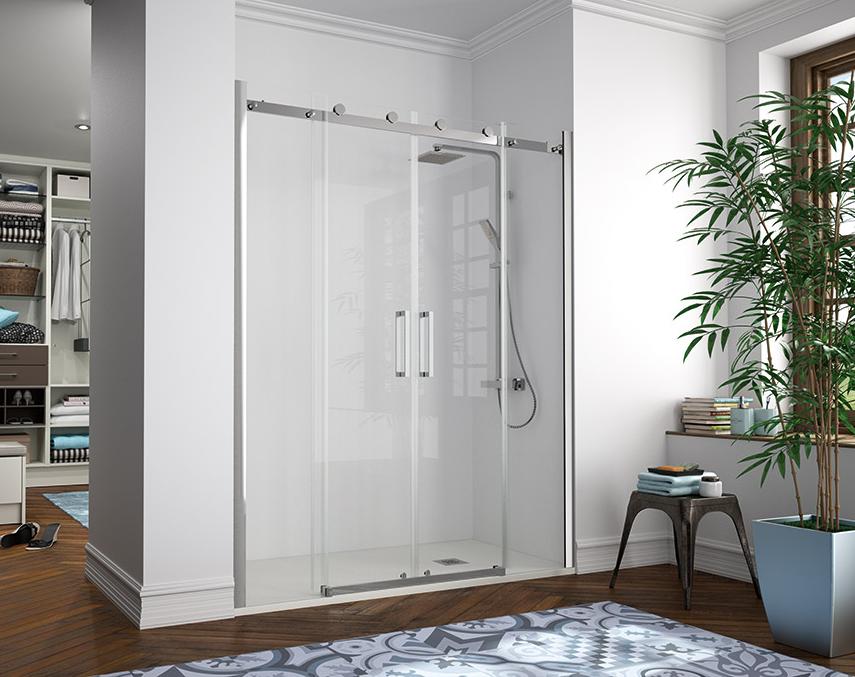 Mampara de dise o 8 mm de grosor sin rodamientos - Rodamientos mamparas ducha ...